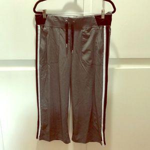 Calvin Klein Grey Striped Capris